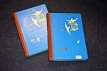 2 large blue stamp albums containing Australian &