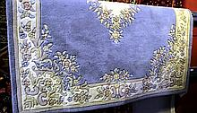 Thick pile Chinese woollen carpet, floral design