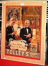 Vintage advertising poster for Tolley's Brandy in