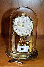 Kern German brass anniversary clock, mechanical