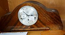 Vintage Garrard of England mantel clock, walnut