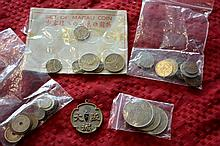 Bag containing a qty of various Chinese coins