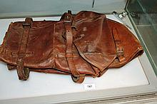 Swedish Army issue WWI full leather saddle bags,