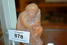 Chinese carved soapstone figure of a seated wise