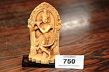 Small carved resin figure of Shiva on perspex base