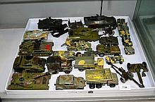 Large qty of die-cast metal army vehicles incl.