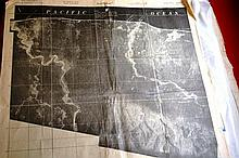 Portfolio of 9 US Army war dept issued maps, of