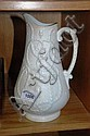 Antique smear glazed wine jug with embossed