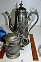 Two items including epns large coffee pot made by