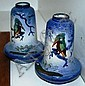 A pair of interesting pottery vases with