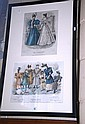 Antique French hand-coloured fashion print dated