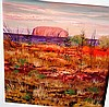 Colleen Parker, oil on board, 'Uluru Landscape'