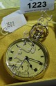 Sterling silver cased gents pocket watch, Dent of