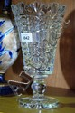 Waterford crystal goblet vase, circular stem,