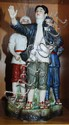 Chinese pottery communist figural group with Mao