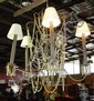 Ornate iron & cut glass chandelier style hanging