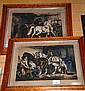 Pair of antique hand coloured German lithographs