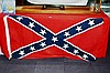 An American Confederate flag, stitched cotton,