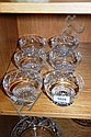 A set of 6 Stuart crystal dessert bowls, diamond