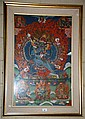 An Asian painting, religious scenes on cotton or