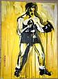 'Rumble', street art, acrylic on canvas 'The