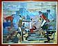 E. Carroll, oil on canvas, Mosman Street scene,