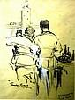 Harold  Brocklebank Herbert pencil sketch with