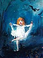 David Boyd oil on canvas board 'Young girl