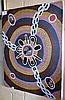 Aboriginal dot painting on canvas on stretcher