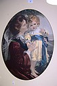 Well framed offset lithograph of a mother & child,