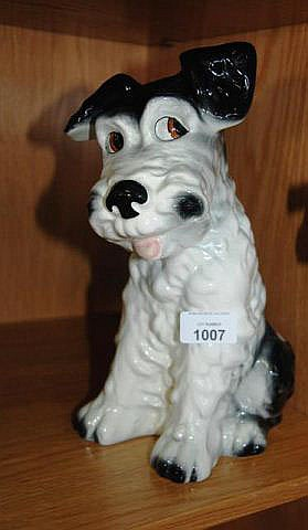 Large Sylvac figure of a seated Terrier