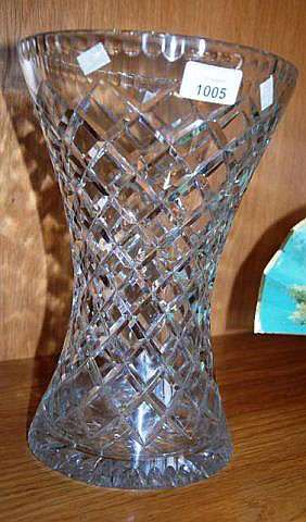 Large good quality cut crystal vase