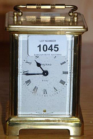 Old French brass cased carriage clock by Bayard, 8