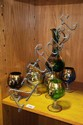 Vintage Italian glass liqueur set comprising of