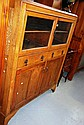 1920s oak kitchenette, 2 glazed doors with
