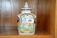 Sadler ceramic tea caddy, from 'The World of