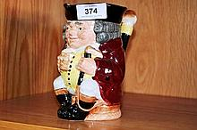Royal Doulton Toby jug 'Jolly Toby' D6109, has