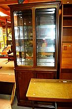 Chiswell teak display cabinet / wall unit,
