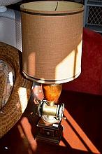 Unusual table lamp, styled in the form of a coffee