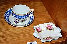 2 items: a Shelley twin handled pin dish and a