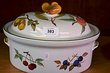 Royal Worcester oven to table ware, oval shaped