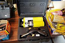 Cased Map-Pro blow torch with twin canisters,