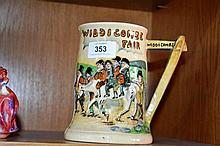 Crown Devon tankard, Widdicombe Fair, has
