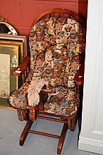 Child's rocking armchair with hobby horse