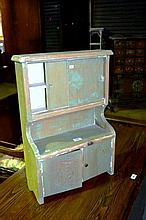 Antique child's handmade toy dresser with