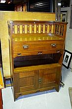 Tasmanian oak dumbwaiter, Arts & Crafts style,