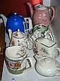 6 Various coffee and tea pots plus a Sadler
