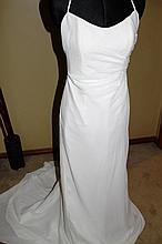 Wedding Dress. Brand new with tags, slimline ivory chiffon dress