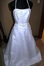 Wedding Dress. Brand new with tags, White halter or strap