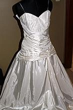 Wedding Dress. Brand new with tags, ivory satin dress